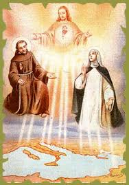 San Francesco e Santa Caterina con Gesù